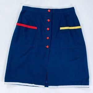 Vintage Navy Blue short-skirt